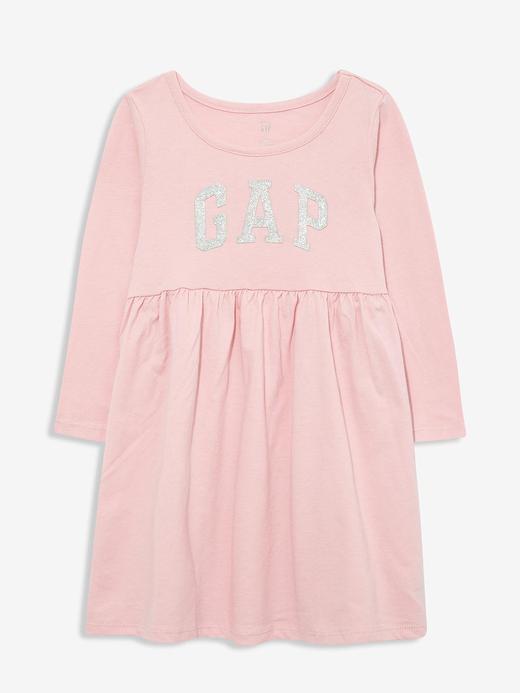 Kız Bebek Pembe Gap Logo Uzun Kollu Elbise