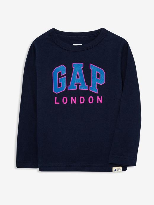 Erkek Bebek Lacivert Gap Logo Uzun Kollu T-Shirt