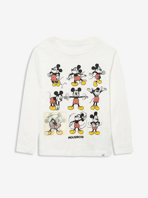 Erkek Bebek Beyaz Disney Mickey Mouse T-Shirt