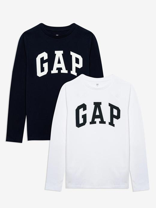 Erkek Çocuk Çok renkli 2'li Gap Logo Uzun Kollu T-Shirt Seti