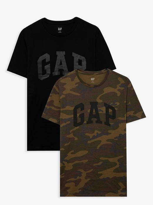 Erkek Siyah 2'li Gap Logo Kısa Kollu T-Shirt Seti