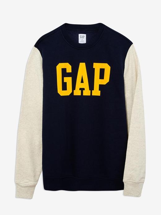 Erkek Lacivert Gap Logo Yuvarlak Yaka Sweatshirt