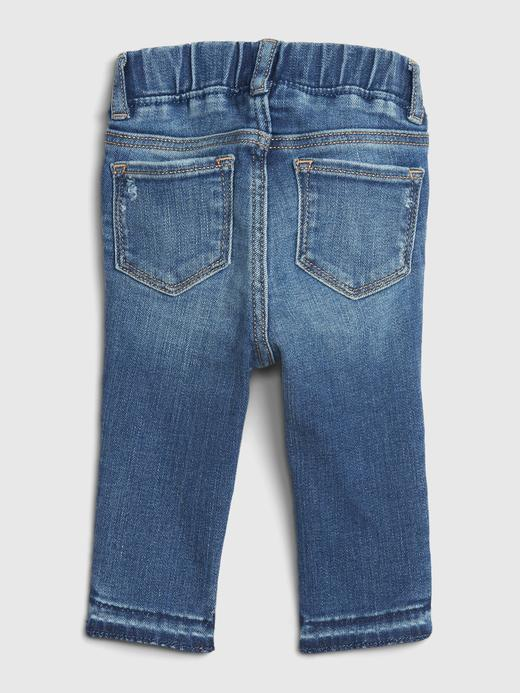 Kız Bebek Mavi Destructed Pull-On Jegging Jean Pantolon