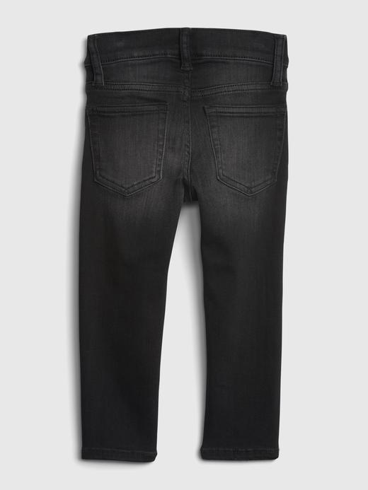 Erkek Bebek Siyah Stretch Skinny Jean Pantolon