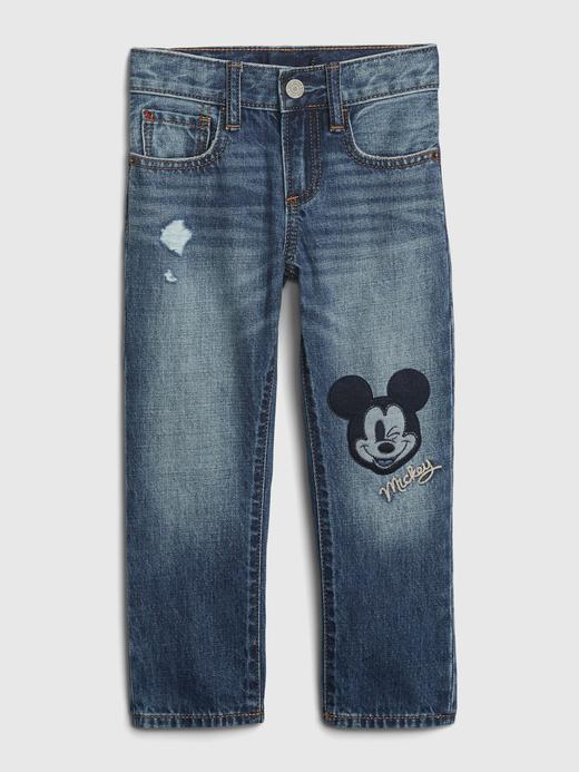 Erkek Bebek Mavi Disney Mickey Mouse Slim Jean Pantolon