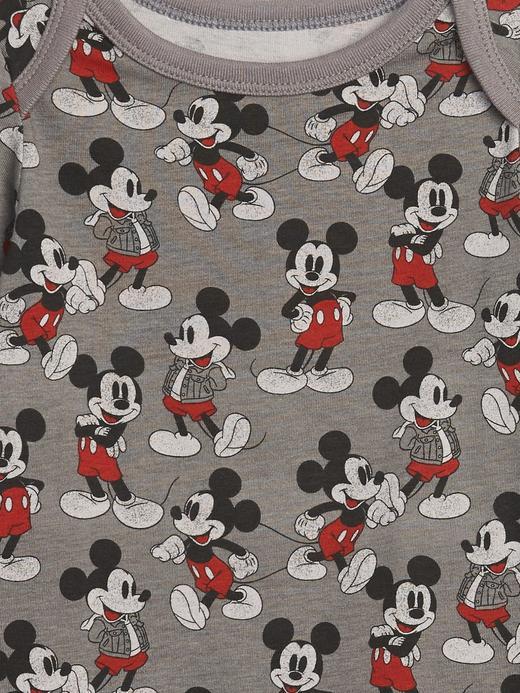 Erkek Bebek Gri Disney Mickey Mouse Body