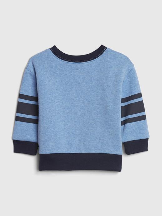 Erkek Bebek Mavi Gap Logo Yuvarlak Yaka Sweatshirt