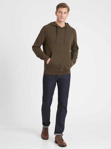 Erkek Kahverengi Kapüşonlu Sweatshirt
