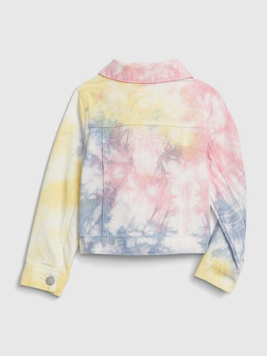 Kız Bebek Çok Renkli Tie-Dye Denim Ceket