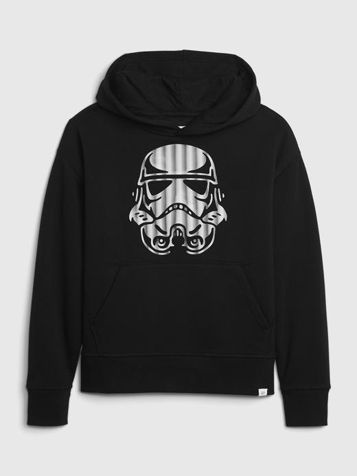 Erkek Çocuk Siyah Star Wars™ Grafik Kapüşonlu Sweatshirt