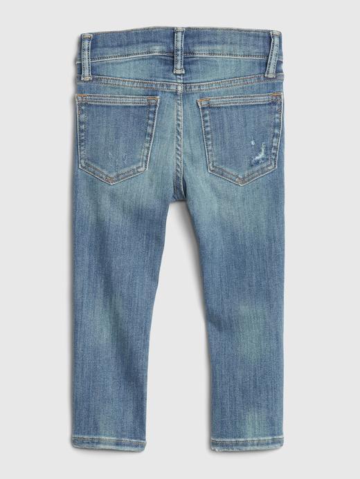 Erkek Bebek Mavi Destructed Skinny Jean Pantolon
