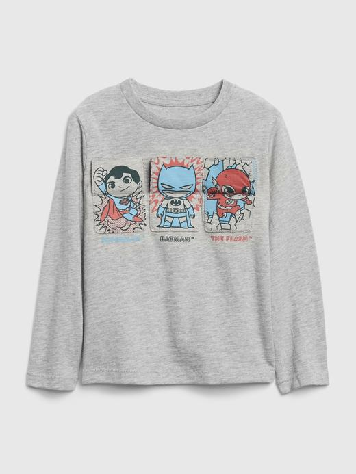 Erkek Bebek Gri DC™ Grafik Uzun Kollu T-Shirt