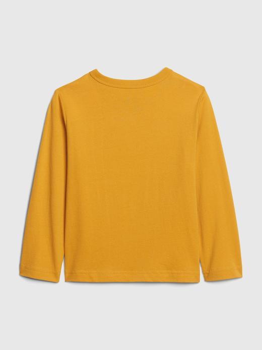 Erkek Bebek Sarı Uzun Kollu Grafik T-Shirt