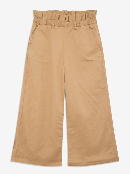 Kız Çocuk Kahverengi Wide Leg Pantolon