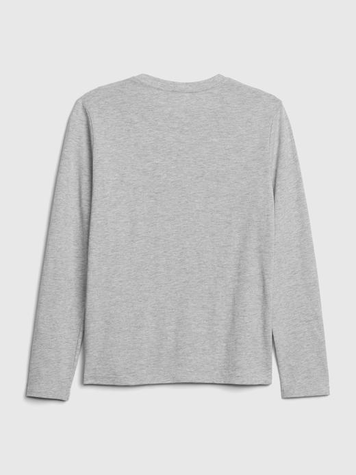 Erkek Çocuk Siyah Uzun Kollu Grafik T-Shirt