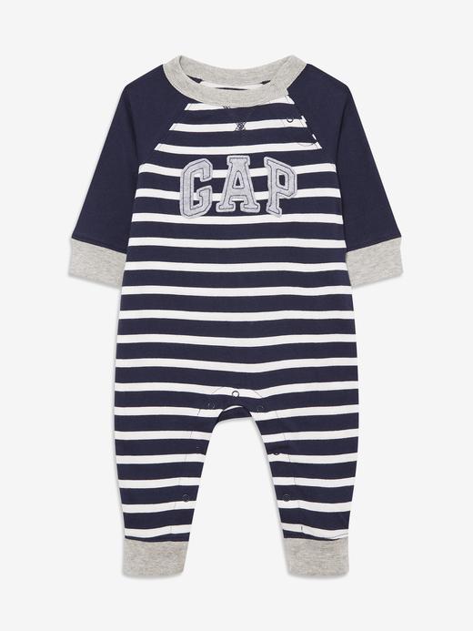 Erkek Bebek Lacivert Gap Logo Uzun Kollu Tulum