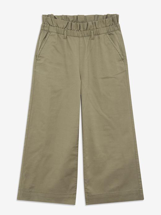 Kız Çocuk Yeşil Wide Leg Pantolon