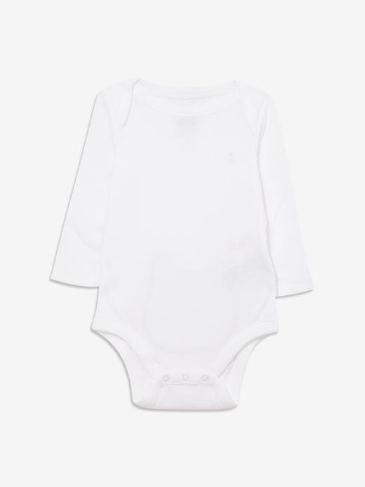 Erkek Bebek Beyaz Ayıcık Desenli Body