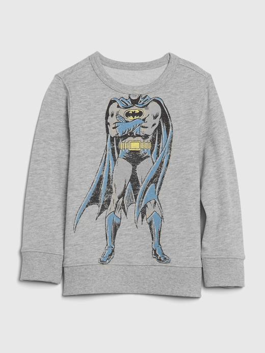 Erkek Bebek gri DC™ Grafik Düz Yaka Sweatshirt