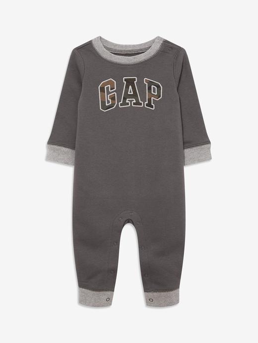Erkek Bebek Siyah Gap Logo Uzun Kollu Tulum