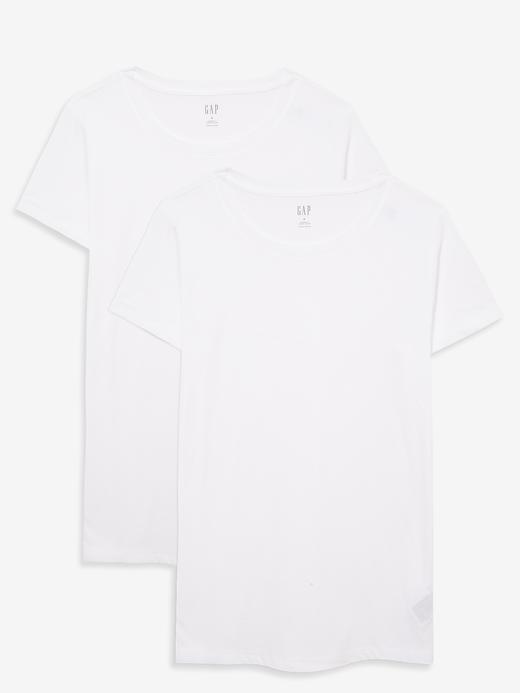 Kadın Beyaz 2'li Favorite Yuvarlak Yaka T-Shirt Seti