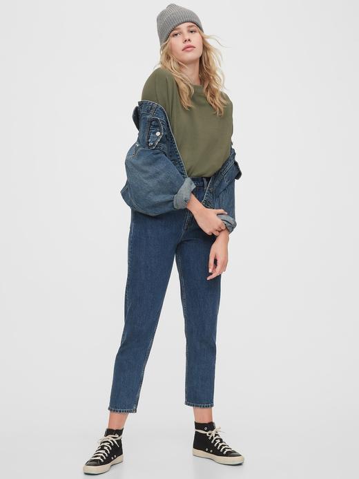 Kadın Gri Oversize Düz Yaka Sweatshirt