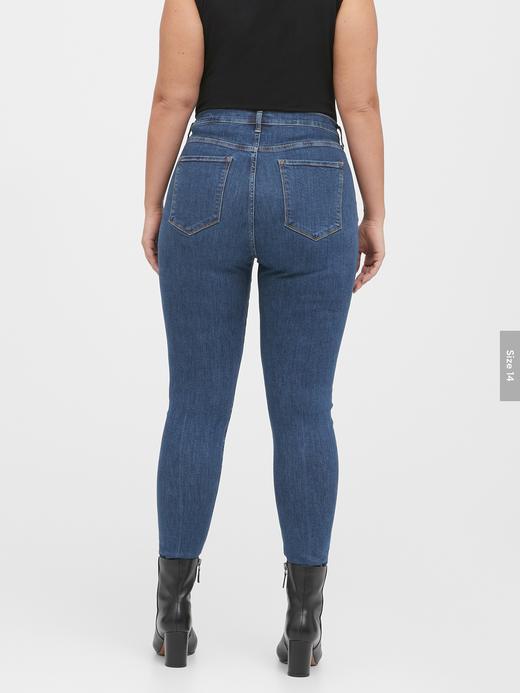 Kadın Mavi High-Rise Skinny Jean Pantolon
