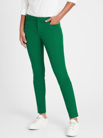 Kadın Yeşil Sloan Skinny-Fit Pantolon