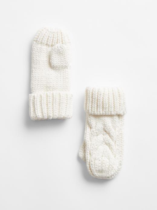 Bebek Beyaz Örgü Eldiven