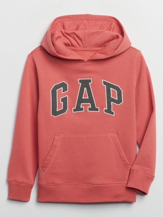 Erkek Çocuk Pembe Gap Logo Kapüşonlu Sweatshirt