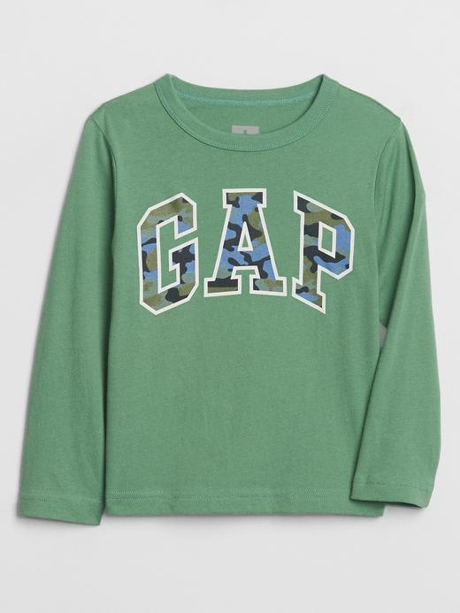 Erkek Bebek Yeşil Grafik Uzun Kollu T-Shirt
