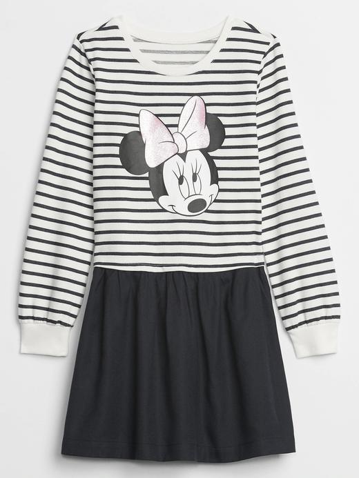 Kız Çocuk Lacivert Disney Minnie Mouse Elbise