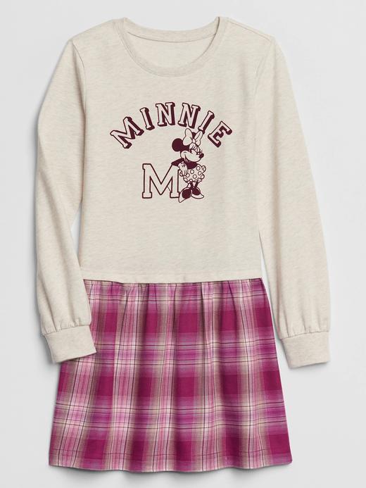 Kız Çocuk Pembe Disney Minnie Mouse Elbise