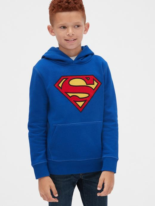 Erkek Çocuk Gri DC™ Kapüşonlu Sweatshirt