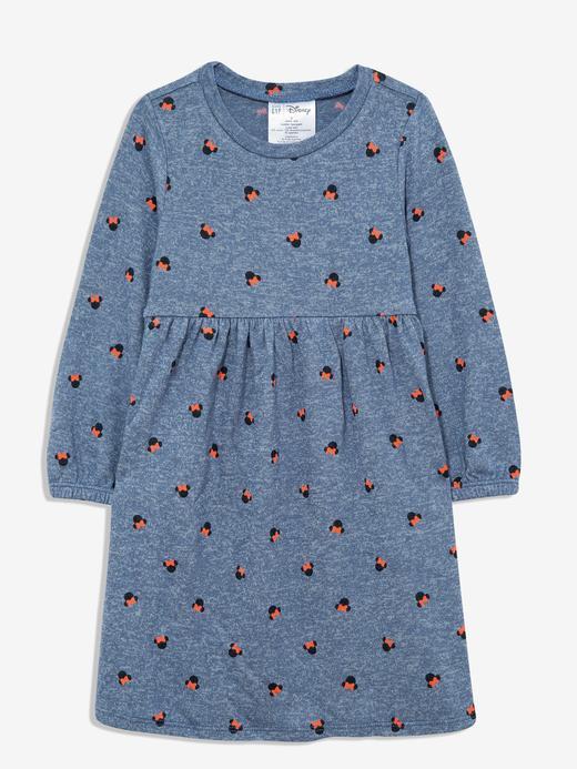 Kız Bebek mavi Disney Minnie Mouse Uzun Kollu Elbise