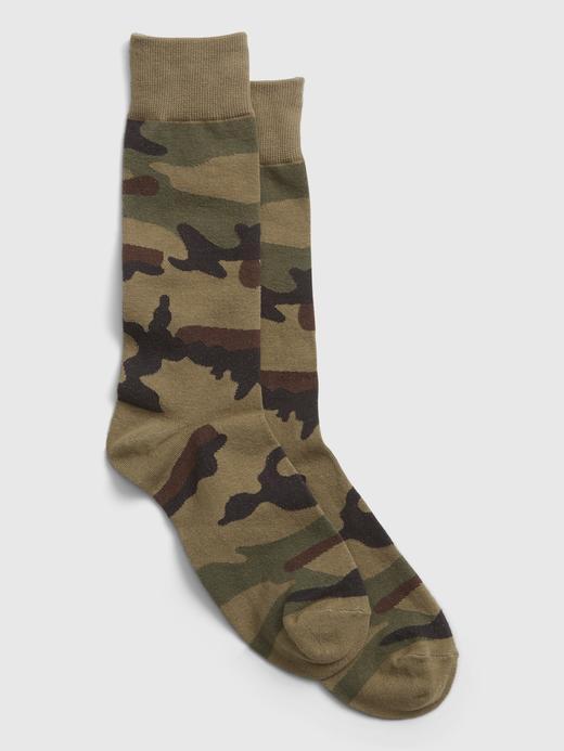 Erkek Yeşil Desenli Çorap