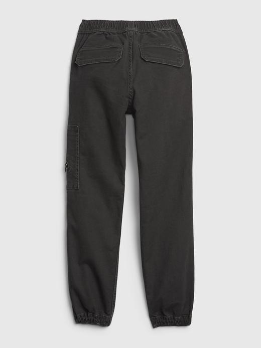 Erkek Çocuk Gri Utility Denim Jogger Pantolon