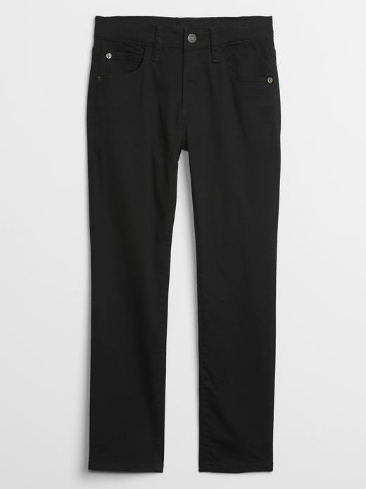 Erkek Çocuk Siyah Skinny Khaki Denim Pantolon