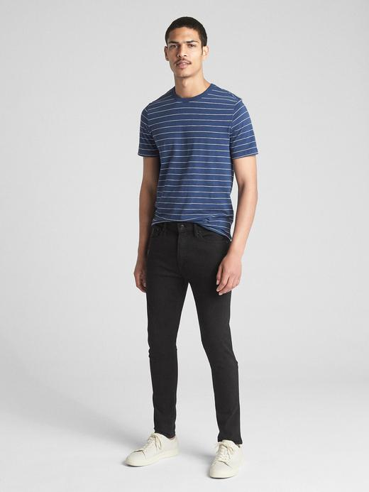 Erkek Siyah GapFlex MaxSuper Skinny Jean Pantolon