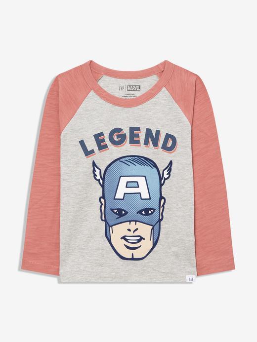 Erkek Bebek Gri Marvel™ Grafik Uzun Kollu T-Shirt