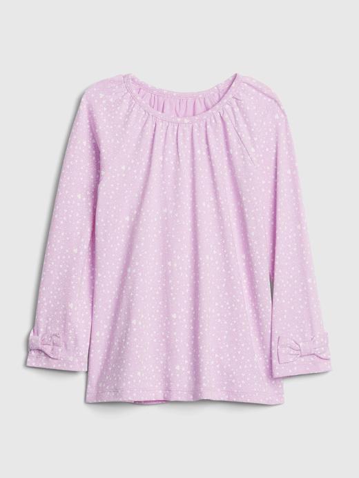 Kız Bebek Pembe Desenli Tunik T-Shirt