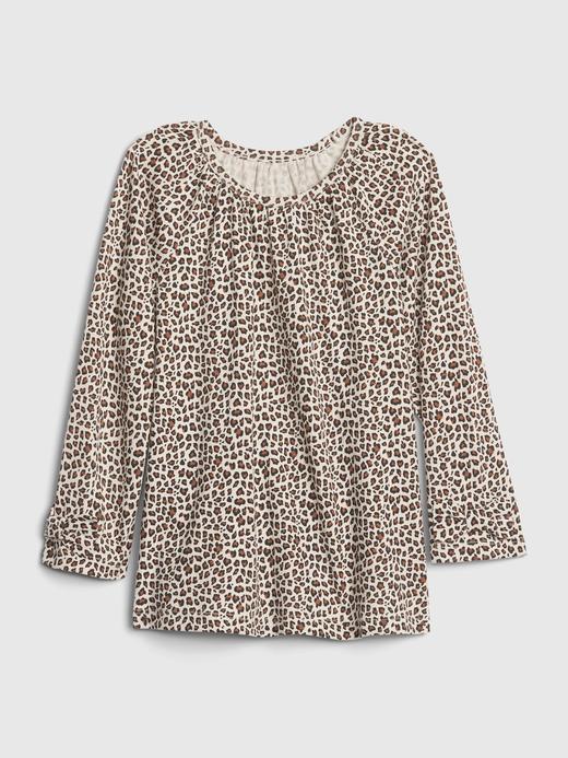 Kız Bebek Bej Desenli Tunik T-Shirt