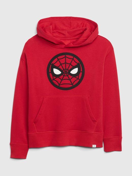 Erkek Çocuk Kırmızı Marvel© Kapüşonlu Sweatshirt