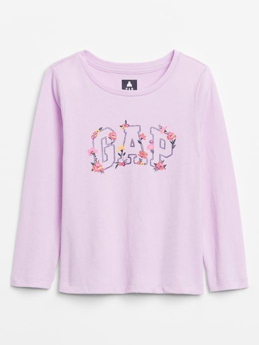 Kız Bebek Pembe Gap Logo Uzun Kollu T-Shirt