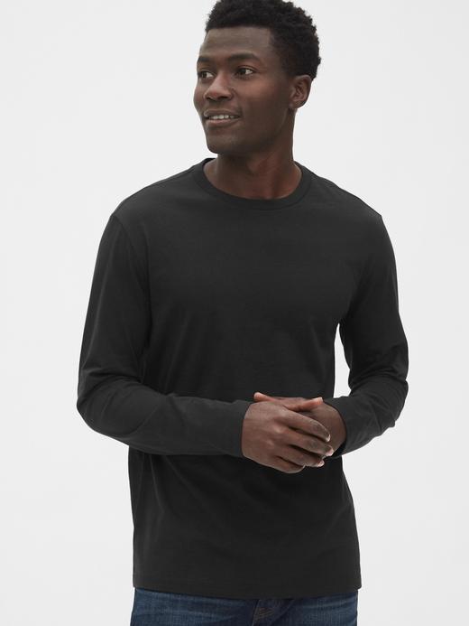 Erkek Siyah Classic Uzun Kollu T-Shirt