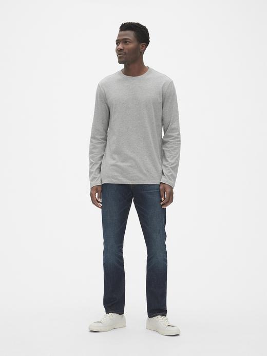 Erkek Beyaz Classic Uzun Kollu T-Shirt