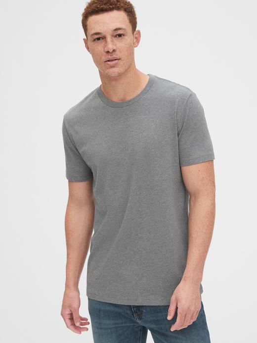 Erkek Gri Klasik T-Shirt