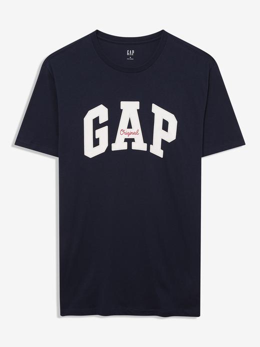 Erkek Lacivert Gap Logo Yuvarlak Yaka T-Shirt