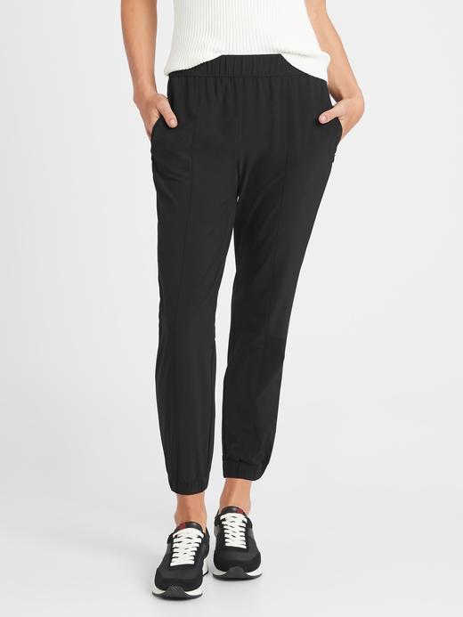 Kadın Siyah Streç Jogger Pantolon