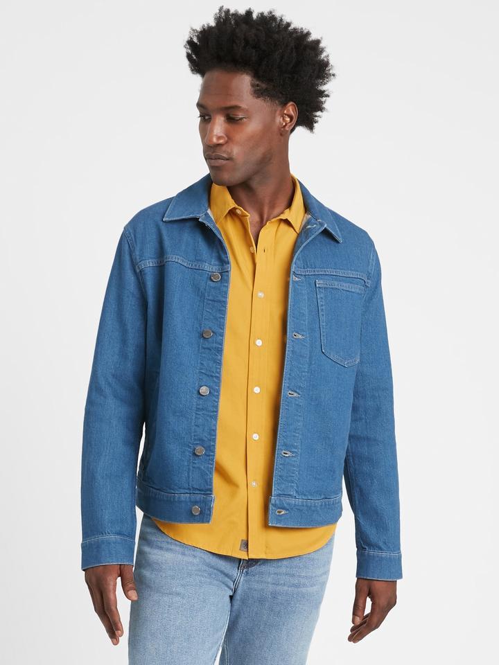 Erkek Lacivert LENZING™ ECOVERO™ Untucked Slim-Fit Gömlek